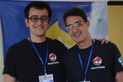 Drupal Camp Bolivia - With my dear friend Joaquín Bravo